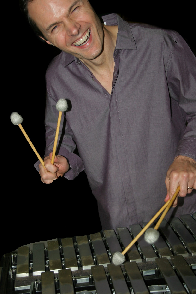 Paul Babelay playing the vibraphone